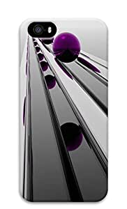 iPhone 5s Cases & Covers - Purple 3D Ball Custom PC Soft Case Cover Protector for iPhone 5s