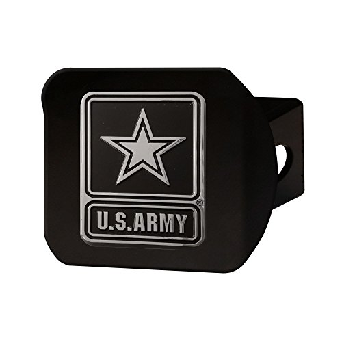 FANMATS 21326 Army Black Hitch Cover , Team Color, 3.4