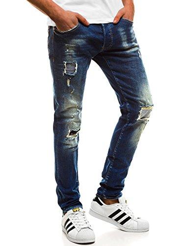 OZONEE Hombre Pantalones Vaqueros Pantalón Chándal Pantalones Deportivos Pantalones de Ocio Pantalón chándal Jogger Otantik 1805 Vaqueros _ Ozonee B/1806