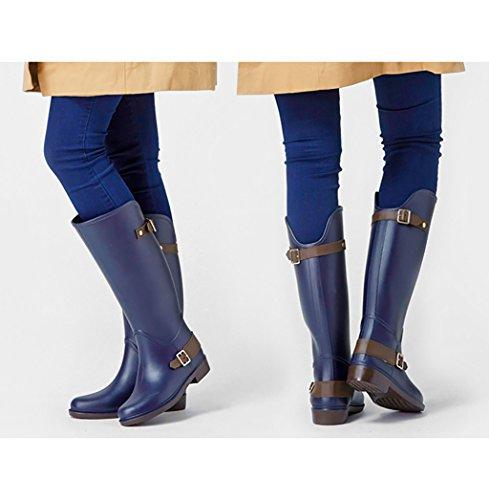 Blau Wellington Gummi Frau Regenstiefel Regenstiefel 7wgnHUZq