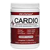 Life's Fortune Cardio (L-Arginine) Advanced Cardio Support Plus Nitric Oxide Enhancement Formula - Dietary Supplement, Cherry Flavor, 16.8 Oz