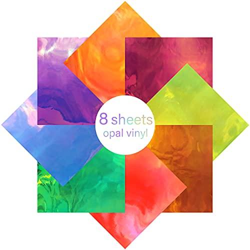 VICHYIE Permanent Adhesive Vinyl Sheets, 8 Sheets Color Changing 12