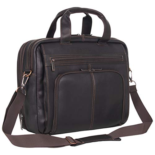 Briefcase Expandable Leather Soft - Kenneth Cole Reaction Colombian Leather Dual Compartment Expandable 15.6