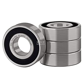 15x 35x 11 mm 2 pcs 6202 2RS double rubber sealed ball bearing