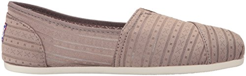 Urban Taupe Plush BOBS Slip Fashion Skechers Rose On from Flat Women's n4qwvZZAx8