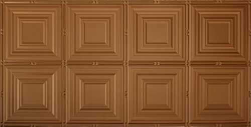 Global Specialty Products Pattern No.320 Tin Style Panel, 2 by 4-Feet, Aged Copper