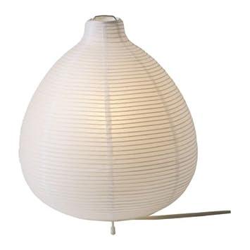 Ikea Lampe De Table Vate 26 Cm Blanc Papier De Riz Acier Amazon