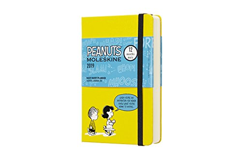 Moleskine Limited Edition Peanuts 12 Month 2019 Daily Planner, Hard Cover, Pocket (3.5