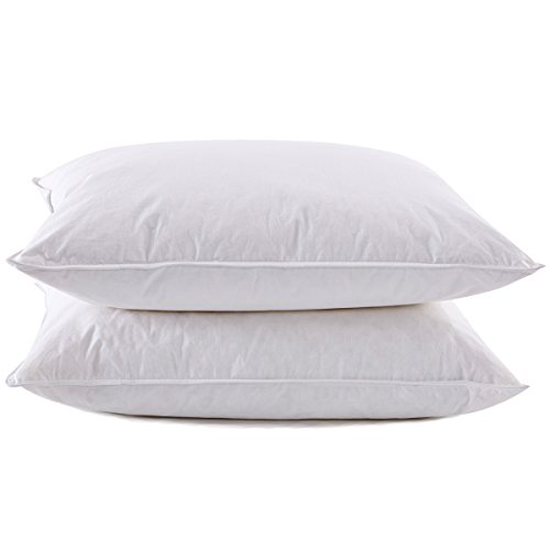 Puredown White Goose Feather Down Pillow Hotel Quality, Quee