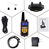 LINNSE Dog Training Collar 800 Yards Dog Shock Collar with Beep,Vibra, Shock Electric, IPX7 100% Waterproof and Rechargeable for All Size Dogs