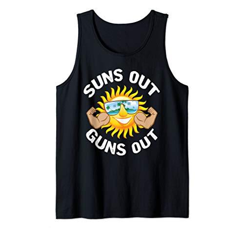 Suns Out Guns Out Beach Summer Funny Sun Muscle  Tank Top (Suns Out Guns Out Shirt Tank Top)
