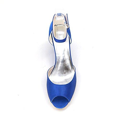 Chaussures Peep Aiguille Femme De L Yc Multicolore Toe Mariage Pourpre Talon Sandales BWwdWgnqH