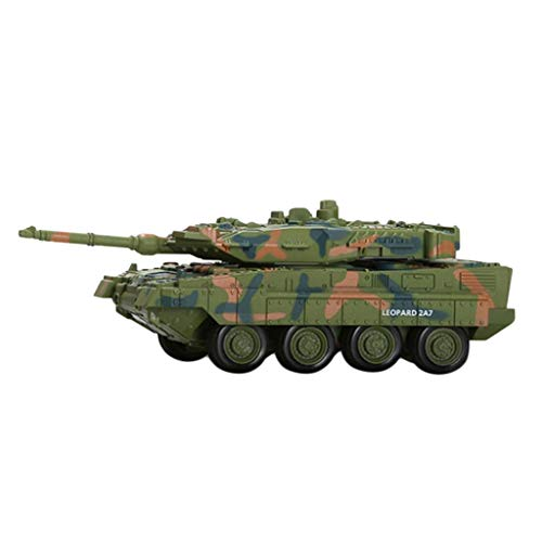 Homyl 1/144 German Leopard II A7 Main Battle Tank Model - RC Radio Control Tank Electric Car Soldier Playset Toy Gifts ()
