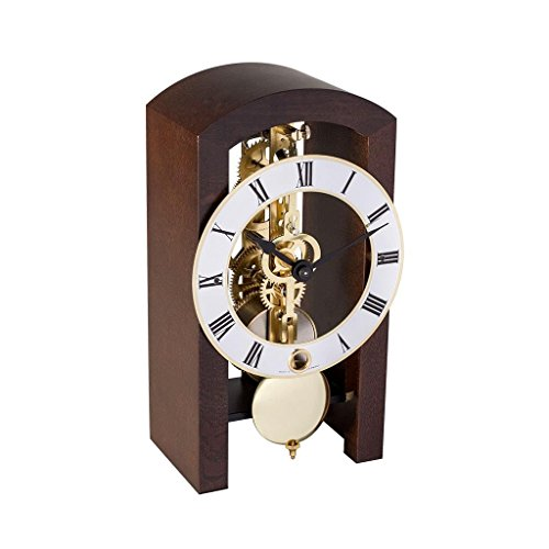 Hermle PATTERSON Mechanical Table Clock #23015030721, Walnut
