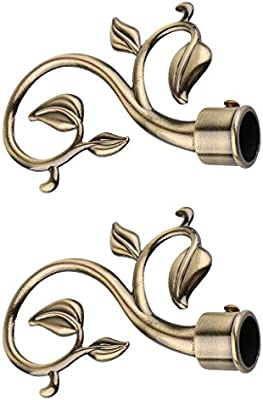 Decorative Curtain Rod Ends.Magideal 1 Pair Decorative Curtain Drapery Rod Pole Finials Ends For 22mm Curtain Poles Bronze