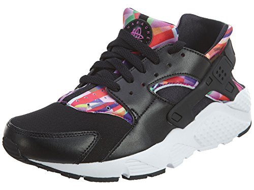 Nike 704946-003 Big Kids Huarache Print Running Shoes, Black/Hyper Violet, 6.5 M US Big Kid For Sale