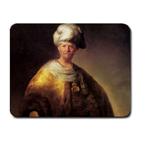 Man In Oriental Costume By Rembrandt Mouse Pad]()