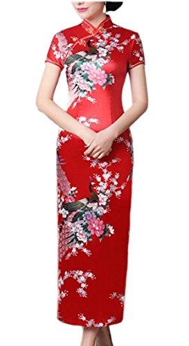 Chinese 5 Sleeve Dress Jaycargogo Cheongsam Qipao Women Short Long w48aU7gq
