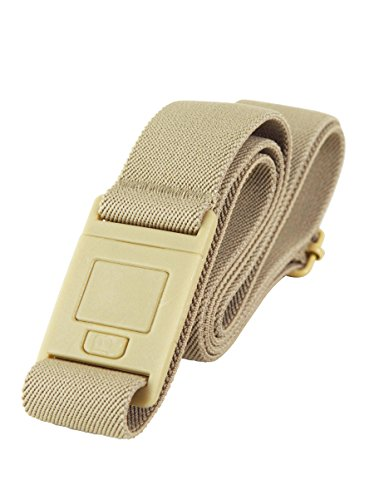 Beltaway SQUARE BUCKLE- Beltaway's Flat Buckle Stretch No Show Belt ... (One Size (0-14), Sand)