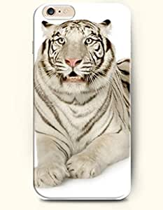 Case Cover For HTC One M8 Cute White Tiger