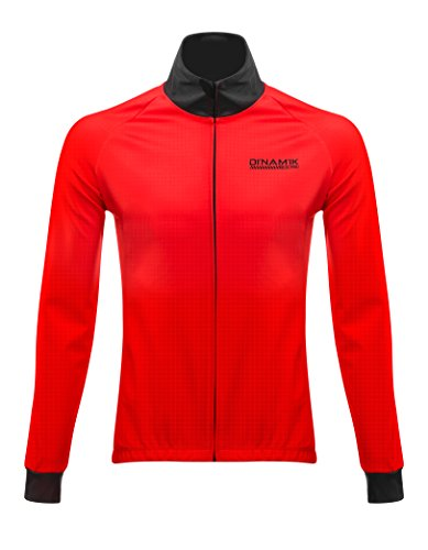 9bd1a6555 Dinamik Men s Winter Thermal Cycling Bike Jacket Windbreaker Breathable  Water Resistance and Reflective Evo Pro (