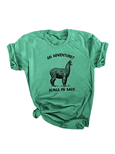 Funny Animal T-shirt Sheep (Seraih Womens Graphic Tee Funny Animal Pun Tees T-Shirts Tops with Active)