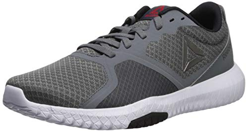 Reebok Men's Flexagon Force Cross Trainer, Alloy/White/Primal Red/Pewter/Black, 9.5 M US (Best Sneakers For Weightlifting)
