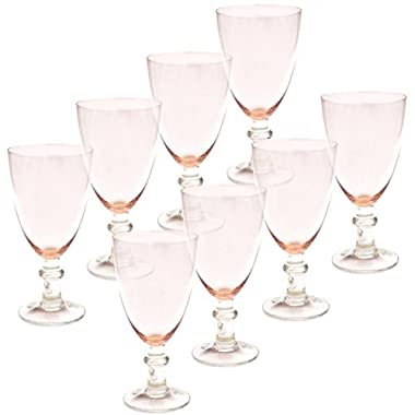 Certified International All Purpose Goblet (Set of 8), 16 oz, Pink