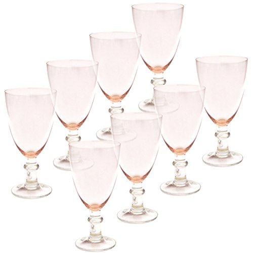 Certified International All Purpose Goblet (Set of 8), 16 oz, Pink
