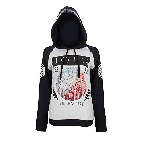 Star Wars Join The Empire Juniors Hooded Sweatshirt Medium Charcoal,White