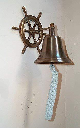 Mare-me cloche de cloche avec cordon de serrage et support de gouvernail laiton