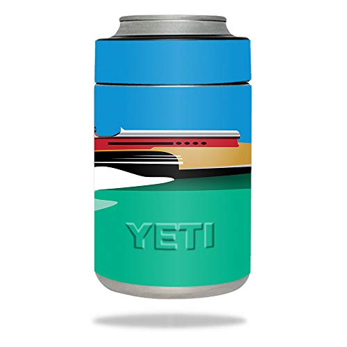 (MightySkins Skin Compatible with YETI Colster - Speed Boat | Protective, Durable, and Unique Vinyl Decal wrap Cover | Easy to Apply, Remove, and Change Styles | Made in The USA)