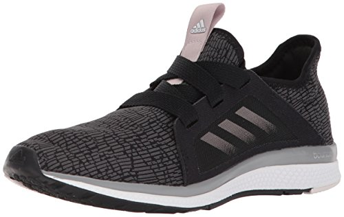 Adidas Leather Wrap - adidas Women's Edge Lux W Running Shoe, Black/Vapour Grey Metallic/Orchid Tint, 7 M US