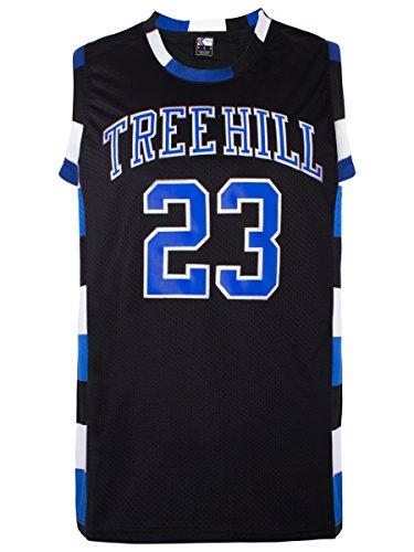 MOLPE Nathan Scott #23 Tree Hill Ravens Basketball Jersey S-XXXL Black (M)