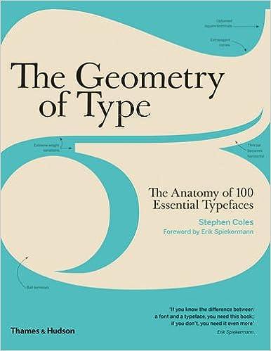 The Geometry Of Type Anatomy 100 Essential Typefaces Amazoncouk Stephen Coles Erik Spiekermann 9780500292457 Books