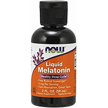 NOW Supplements, Liquid Melatonin, 3 mg Per Serving, Fast Absorbtion and Great Taste