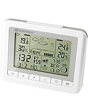 Bresser TemeoTrend WF Draadloos weerstation met binnen-/buitentemperatuur en luchtvochtigheid, 6 uur weersvoorspelling, maanfasen, buitensensor, DCF-signaal en wekker, wit