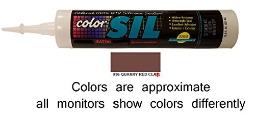 Color Matched Silicone Caulk - Custom Building Products (57 Colors)(Quarry Red Clay) (Red Clay Brick)