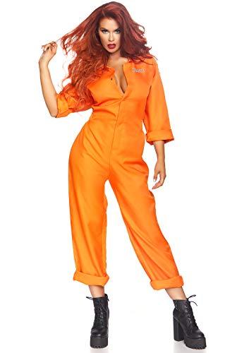 Orange Is The New Black Halloween Costume (Leg Avenue Women's Prison Jumpsuit Costume, Multi/Orange, One)