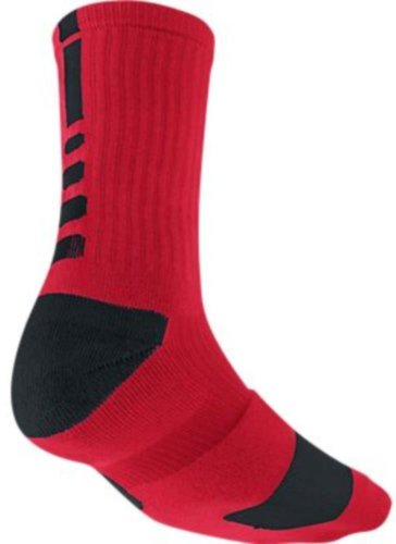 Nike Men's Elite Basketball Crew Socks, Small -  University Red/Black/Black (Nike Youth Elite Basketball Socks)