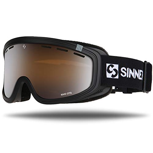 (SINNER Ski Goggles - Over Glasses Ski & Snowboard Unisex Snow Goggles (Matte Black) with 100% UV Protection, Anti-Fog, Lens Ventilation & Helmet Compatible)