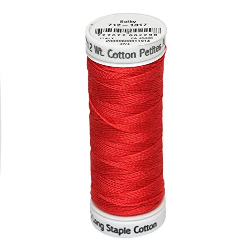 Sulky Of America 12wt Cotton Petites Thread, 50 yd, Poppy by Sulky Of America   B016B3T5PK