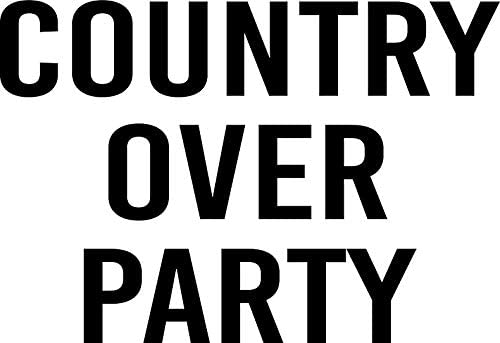 country over party Vinyl Decal Bumper Wall Laptop Window Sticker 5