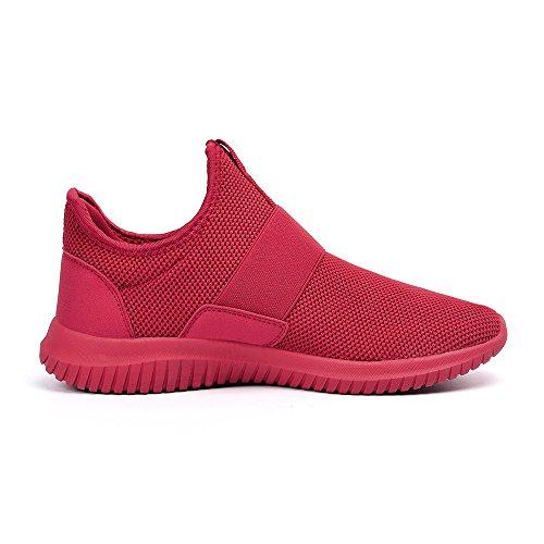 Lacci Rosso Uomo Sportive Senza ZOCAVIA per Scarpe da Sneakers Correre qzOOYx