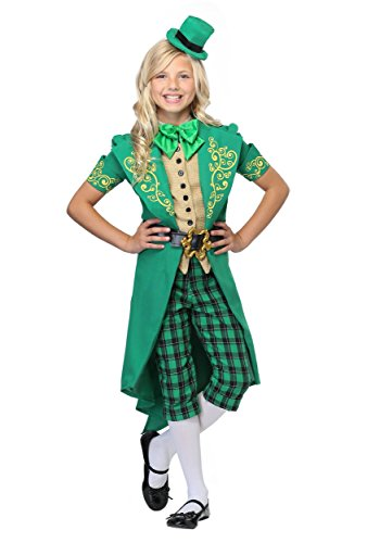Girl's Charming Leprechaun Costume Medium