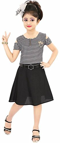 NIKUNJ Girl's Dress girls ethnic dresses Party Wear Casual Dress