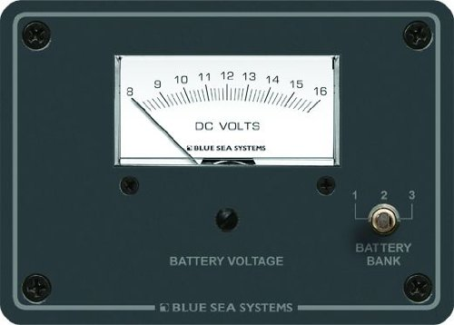 Blue Sea Systems DC Analog 8 to 16V DC Voltmeter Panel