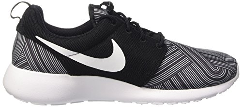 Nike Herren Roshe One Print Sneaker, Schwarz, Media Nero (Black/White-Shark-Wolf Grey)