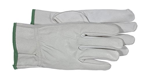 Boss 4060 Ladies Goatskin w/Padded Palm Gloves, White, Large -