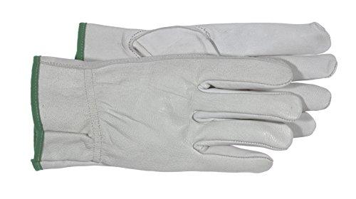 Boss 4060 Ladies Goatskin w/Padded Palm Gloves, White, Large
